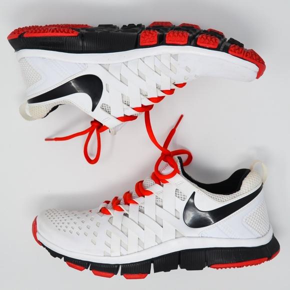 super popular acaeb b0a24 Nike Mens Free TR 5.0 Training Shoes White Crimson